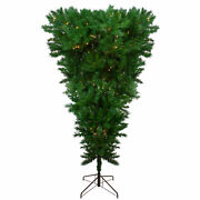 Northlight Led Sugar Pine Upside Down Artificial Christmas Tree 9', Clear Lights