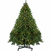 Northlight 9and039 Full Olympia Pine Artificial Christmas Tree Wheels-warm Clear Led