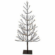 Northlight 4' Led Brown Artificial Christmas Tree Icicle Lights Clear Lights