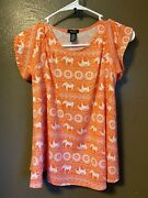 Rue 21 Off The Shoulder Elephant Tank Top Shirt Womens Size S
