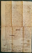 1752 Antique Colonial Deed Falmouth Me Frost Land Berwick Me Powell Emery