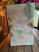 Vintage Precious Moments Happy Birthday Decorative Table Cover 54×104 As Is