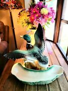 Vintage 1954 Mallard Duck In Flight Tv Lamp And Planter 341 Lane And Co. Works
