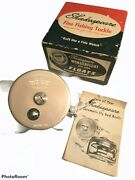 Vintage Shakespeare Tru- Art Automatic Fly Fishing Reel 1826-ea Box Papers