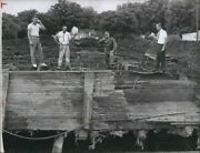 Vintage Photos 1962 Confederate Navy Archeologists At Gunboat Site 9x7