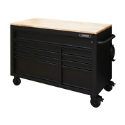 Husky Mobile Workbench 52 In. W 9-drawer In Matte Black W/ Adjustable-height Top