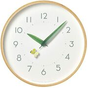 Lemnos Wall Clock Perch Clock White Butterfly Analog Natural Wood Sur18-16 Monki