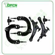 6set Front Upper Lower Control Arms Lower Ball Joints Fits 02-05 Hyundai Sonata