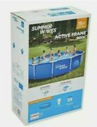 Summer Waves 15x33 Above Ground Metal Frame Pool..be Refreashed The Whole Season