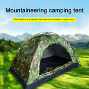 Outdoor Camouflage Camping Tent Foldable Quick Shelter Hiking For 3-4 Persons
