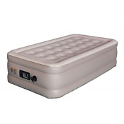 Inflatable Air Mattress 18-in Raised Air Bed With Built-in Pump Twin