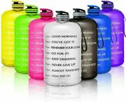 1 Gallon Motivational Water Bottle With Handle Time Maker 128 Oz Large Water Jug