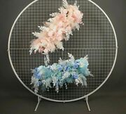 Weddings Flower Frames Stands Background Grid Screen Arch Round Wrought Iron New