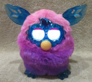 Furby Boom Crystal Series Talking Toy Hasbro Pink Purple Blue Ombre -tested -euc