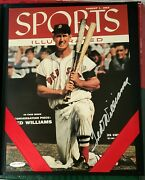 Ted Williams Boston Red Sox 1955 Sports Illustrated Boldly Signed Cover Ud Loa