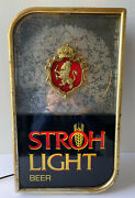 Vintage Strohs Beer Light Up Sign With Motion Swirl - Amazing Effect, See Video