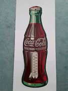Coca Cola Vintage 1954 Bottle Thermometer Usa