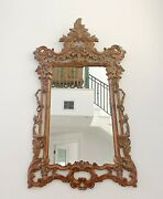 Oversized Carved Chippendale Style Wall Mirror