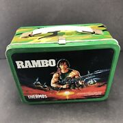 Rambo Metal Lunch Box Lunchbox No Thermos 1985 Vintage Sylvester Stallone