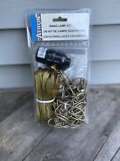 Chain Swag Lamp Kit New 15ft Wire, 12ft Chain Vintage Swag Hooks Socket