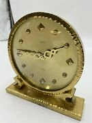 Vintage Luxor 8 Day Swiss Made Brass Clock Fast Shipping