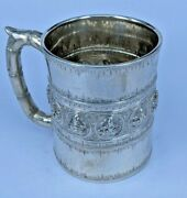Important Decorated Indian Silver Tankard By P Orr And Sons Calcutta Victorian