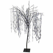 Northlight 6' Christmas Willow Tree Outdoor Decoration Pure White Led Lights