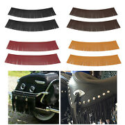 Motorcycle Tassel Saddle Bags Pu Leather Fringe Seat For Harley Chieftain