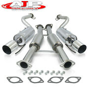 Performance Catback Exhaust 2.35 Pipe 4 Tip For 1990-1996 300zx 3.0l Fairlady
