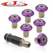 6 Piece M8 Hex Fasteners Fender Washers Purple Bumper Engine Concave Replacement
