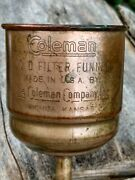 1950's Coleman Solid Copper No.0 Fuel Filter/funnel W/filters No Missing Parts