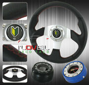 Accord Prelude Steering Wheel +short Quick Releaser + Hub Adapter Set+jdm Button