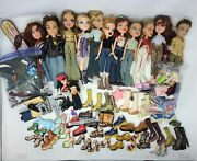 Bratz Doll Huge Lot Of Dolls Clothes Shoes And Accessories Lot Read