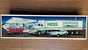 1992 Hess Toy Truck 18 Wheeler And Racer New Gas Oil Station Transport Vintage