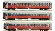 Ls-models Tt Scale Set Of 3 Sleeping Cars Of Berlin-moscow Train Rzd No Couplers