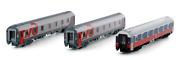 Ls-models Tt Scale Set Of 3 Sleeping Cars Of Moscow-nice Train Rzd No Couplers