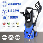 2030psi 1.8gpm Electric Power Pressure Washer 4 Nozzles Detergent Tank Hose Reel