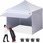 Abccanopy Ez Pop Up Canopy Tent With Awning And Sidewalls 10x10 Market -series,