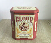 Daher J Banks And Co Flour Tin Vintage Collectible Tin Container Made In England