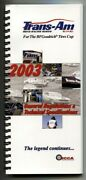 Trans-am Road Racing Series Rules And Technical Specifications 2003