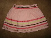 Janie And Jack Girl's Pink Soda Fountain Ribbon Skirt, Size 18-24m Lined Excellent