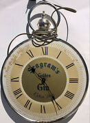 Seagrams Golden Gin Extra Dry Decor Bar Wall Clock Works 12andrdquo Vintage Analog