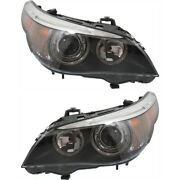 Hid Headlight Lamp Left-and-right For 525 530 545 550 5 Series Hid/xenon Lh And Rh