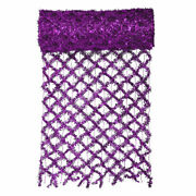 Vco Vco 30' X 12 Extra Wide Wired Mesh Purple Tinsel Garland Ribbon