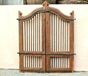Vintage Wooden Iron Grill Dog Gate Antique Indian Gate Fatak Wall Decor Bs-72