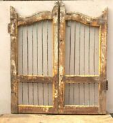 Vintage Iron Grill Wooden Dog Gate Antique Fatak Small Gate Home Wall Deco Bs-73