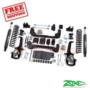 Zone Offroad 4 Lift Kit For 2012 Ram 1500 4wd 2rear Coil Spacers Nitro Shock