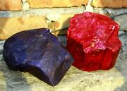 50000carat/10kg Fedex Shipping Ruby And Sapphire Pair Certified Natural Gemstone