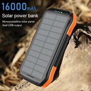 16000mah Solar Power Bank 18w Fast Portable Spare External Battery Phone Charger