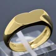 Vintage And Co. Elsa Peretti 18k Yellow Gold Heart Band Ring Size 6